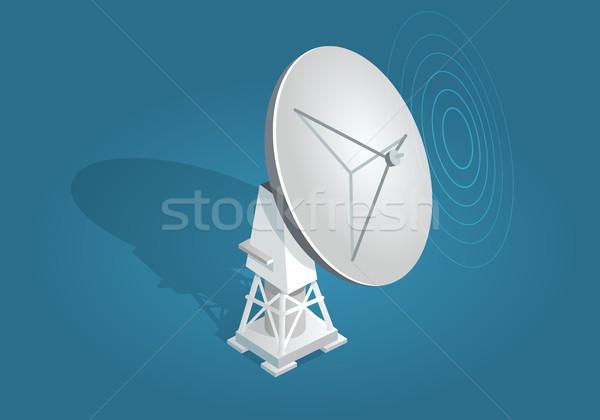 レーダー 皿 影 青 アンテナ ブロードキャスト ストックフォト © robuart
