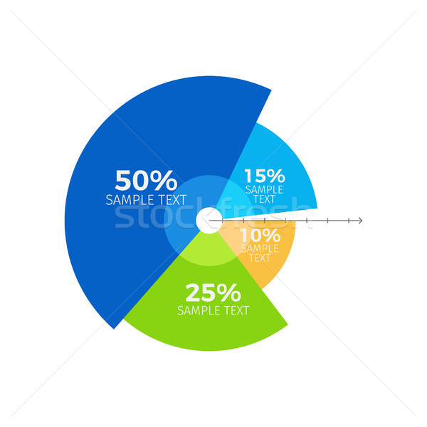 Infographic and Ratio of Parts Vector Illustration Stock photo © robuart