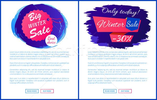 Hoje inverno venda 30 promo Foto stock © robuart