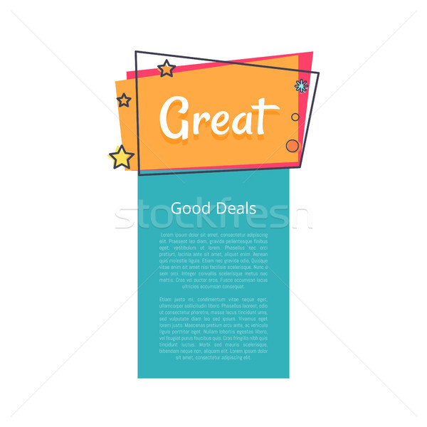 Choose Deal Great Sale Promotional Banner Text Stock photo © robuart