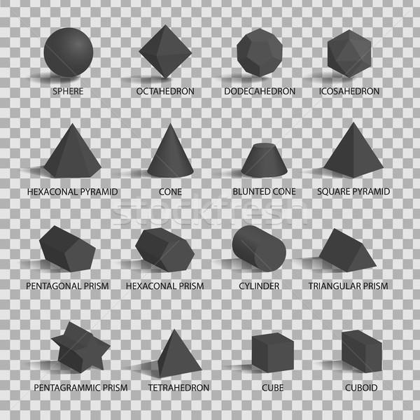 Set of 3D Figures on Transparent Background Stock photo © robuart