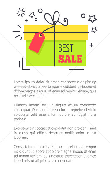 Best Sale Promo Poster with Gift Box and Stars Stock photo © robuart