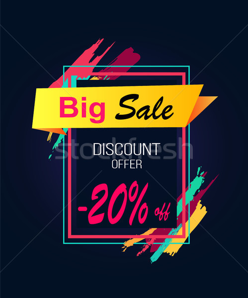 Groß Verkauf Ermäßigung bieten 20 rechteckige Stock foto © robuart