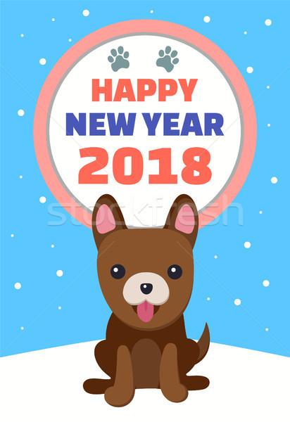 Happy New Year 2018 Banner Vector Illustration Stock photo © robuart