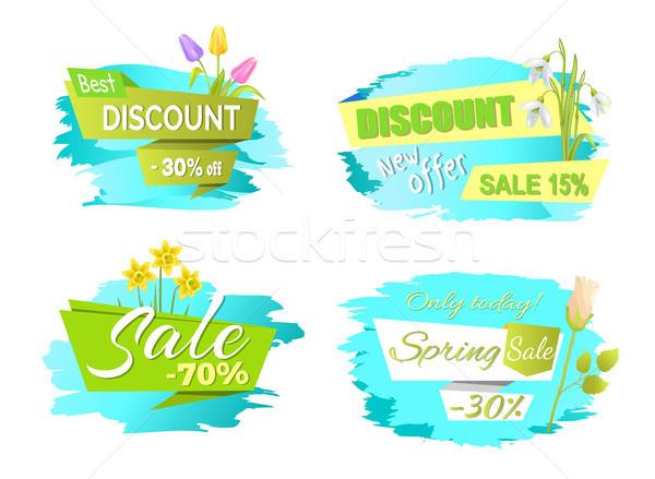 Voorjaar verkoop tulp bloemen promo Stockfoto © robuart