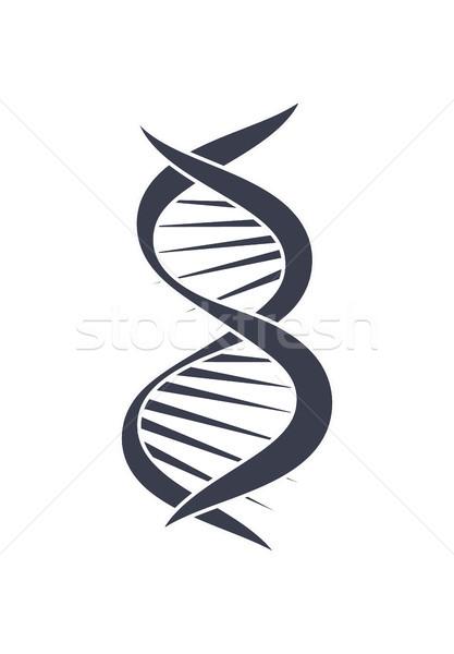 Dna ácido cadeia design de logotipo ícone preto e branco Foto stock © robuart