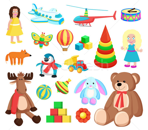 Playthings at Factory Set Vector Illustration Stock photo © robuart