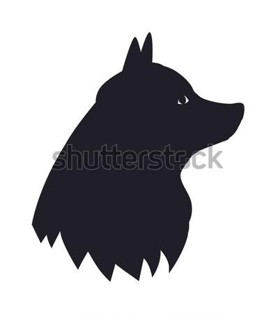 New Year Symbol 2018 Black Dog Silhouette Icon Stock photo © robuart