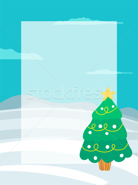 Decorated Christmas Tree Garlands, Place for Text Stock photo © robuart