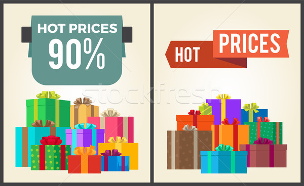 Hot Prices Total Final Sale Discounts Promo Labels Stock photo © robuart