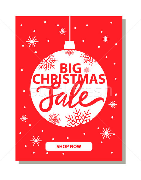Big Christmas Sale Banner with Decorative Ball Stock photo © robuart