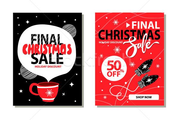 Final natal venda 50 férias Foto stock © robuart