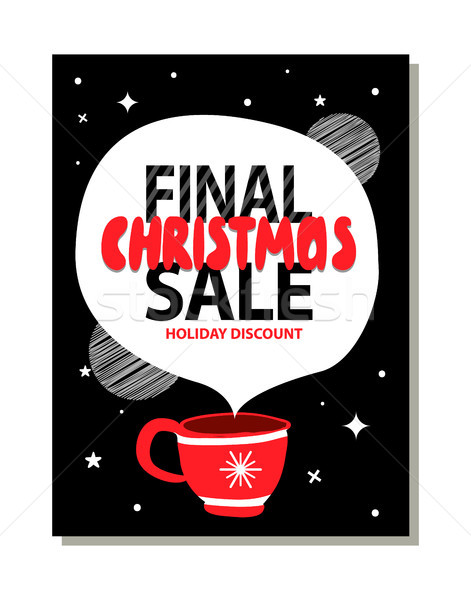 Final Christmas Sale Holiday Discount Advert Stock photo © robuart