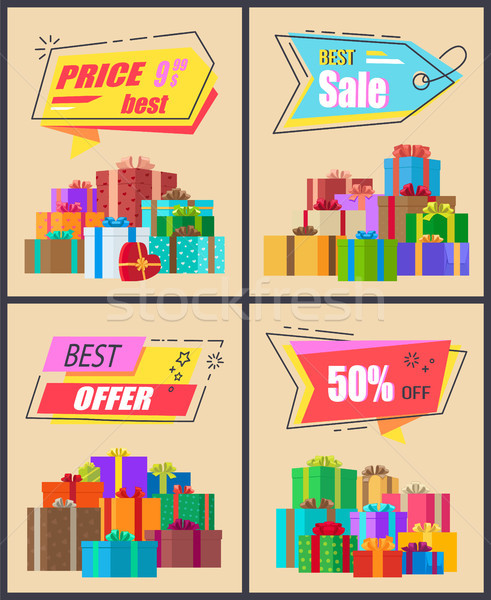 Best Price Sale and Offer Vector Illustration Stock photo © robuart