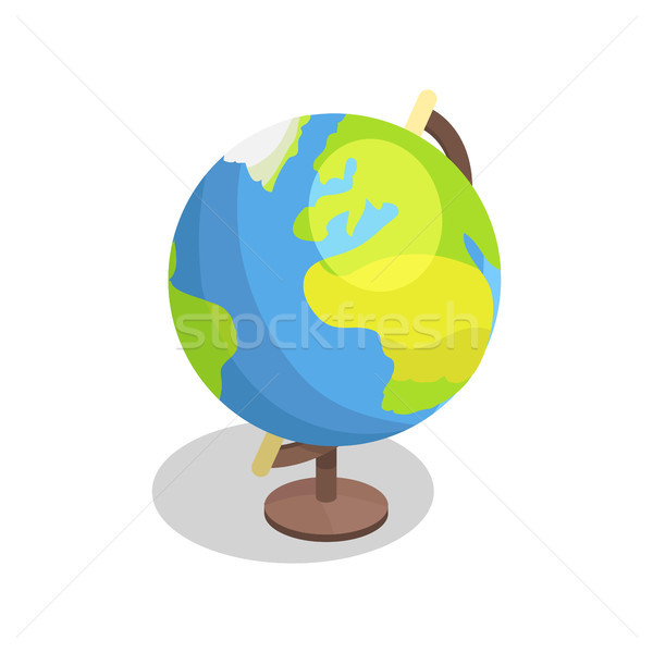 Earth Globe Model Vector Illustration Isolated Stock photo © robuart