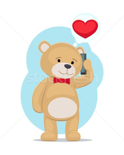 плюш несут игрушку телефон любви Сток-фото © robuart