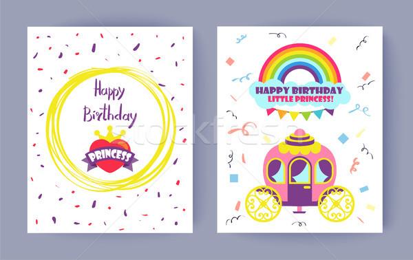 Happy Birthday Little Princess Celebration Card Stock photo © robuart