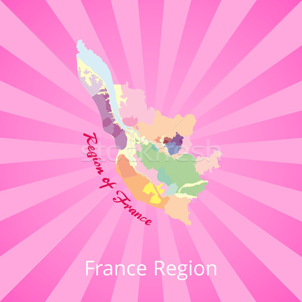 France Region Map with Best Wine Production Zones Stock photo © robuart