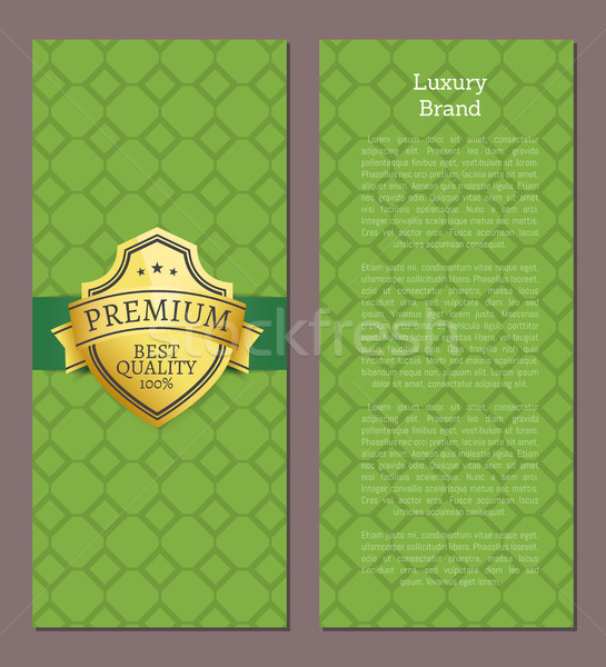 Luxury Brand Premium Quality 100 Exclusive Label Stock photo © robuart
