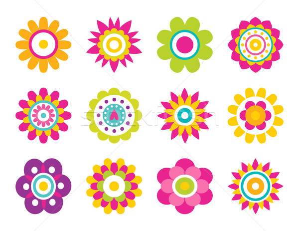 Flowers Blooming Collection Vector Illustration Stock photo © robuart