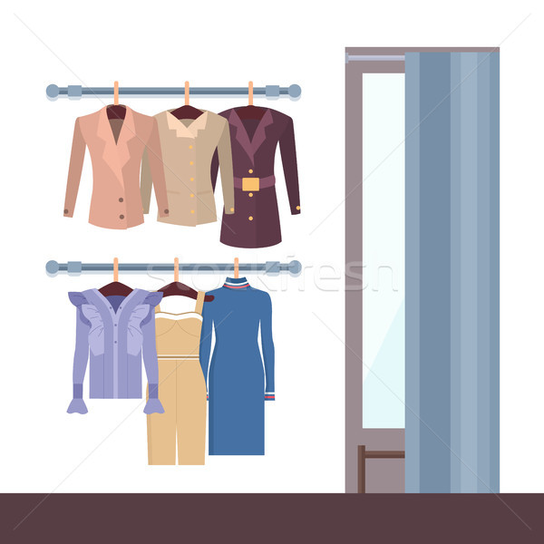 Summer Mode and Changing Room Vector Illustration Stock photo © robuart