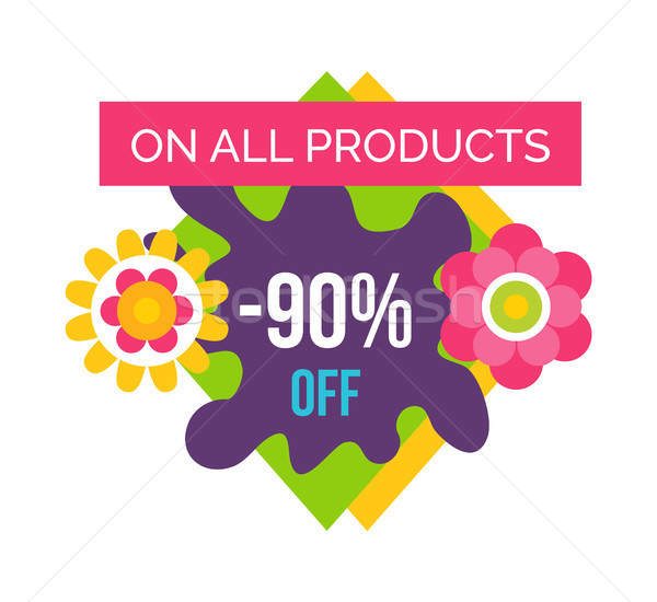 All Products 90 Total Absolute Final Sale Label Stock photo © robuart