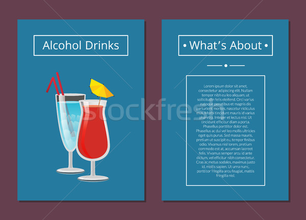 About Alcohol Drinks Banner Vector Illustration Stock photo © robuart