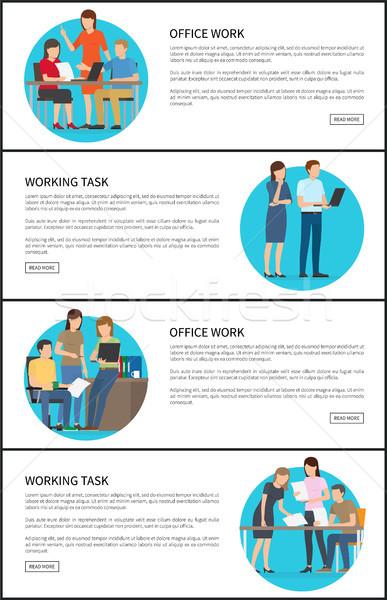 Trabajo de oficina de trabajo tarea web colección Foto stock © robuart