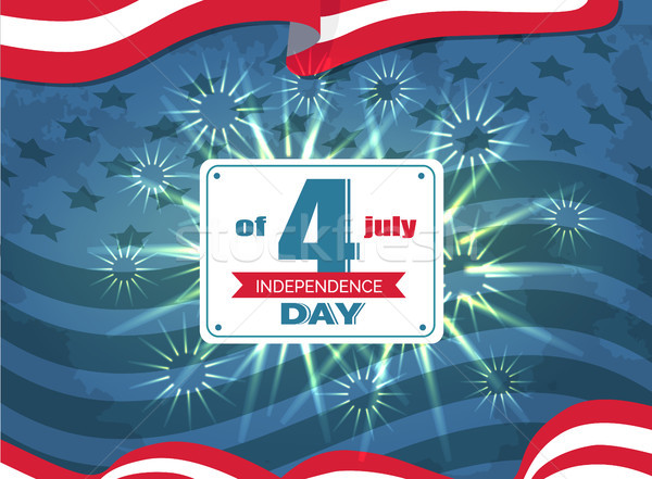 Independence Day 4th of July Vector Illustration Stock photo © robuart