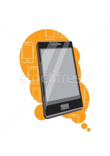 смартфон перспектива дизайна стиль Сток-фото © robuart