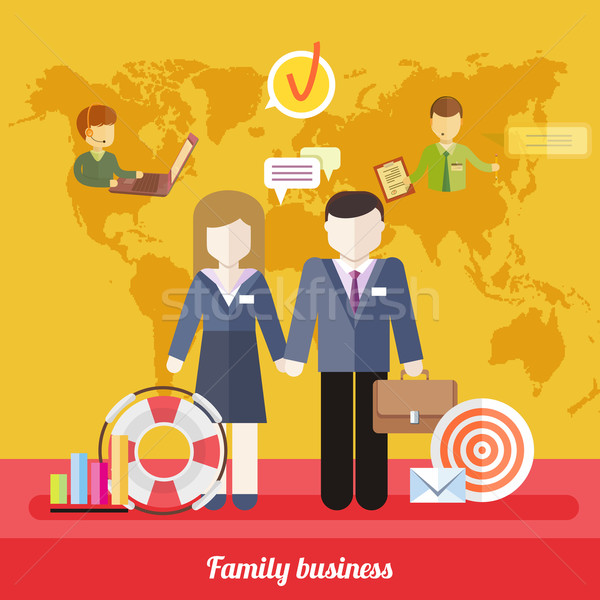 Dengelemek iş çalışmak aile hayatı iş simgeler Stok fotoğraf © robuart