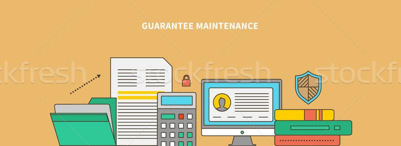 Produktu gwarantować utrzymanie działalności proces rynku Zdjęcia stock © robuart
