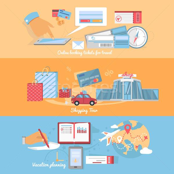 планирования организация путешествия праздников отпуск торговых Сток-фото © robuart