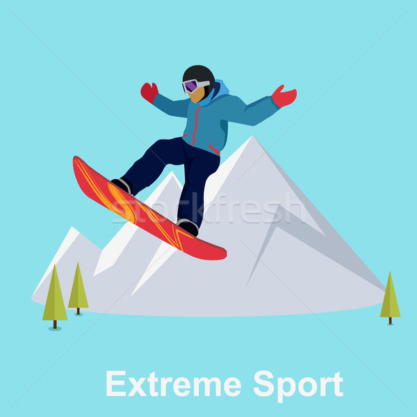 Extreme Sport Snowboard Design Stock photo © robuart
