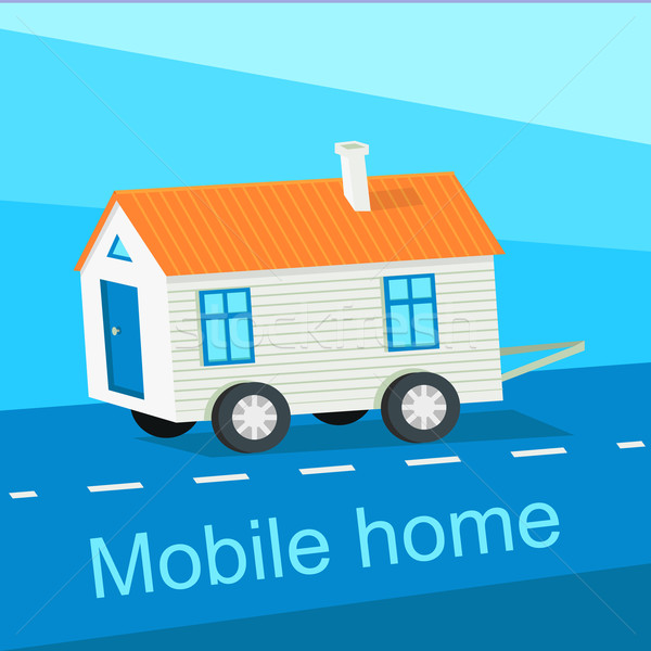 Mobile Home Flat Design Banner Stock photo © robuart