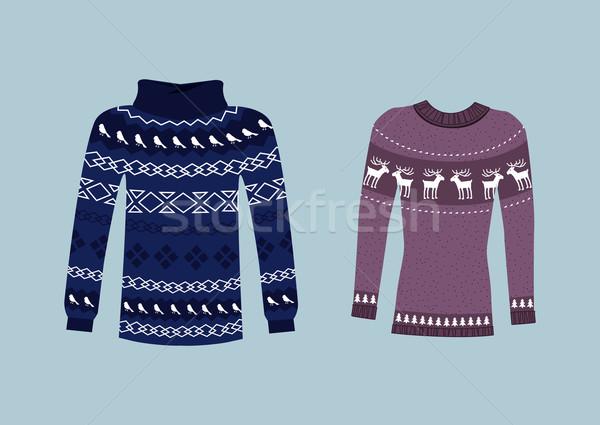 Winter Warm Sweater Handmade, Svitshot, Jumper Stock photo © robuart