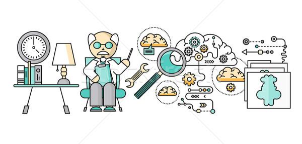 Diagnoza mózgu psychologia projektu psychiatria terapii Zdjęcia stock © robuart