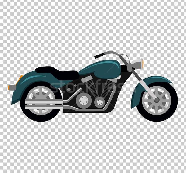 Cool Motorcycle Isolated on White Background Stock photo © robuart