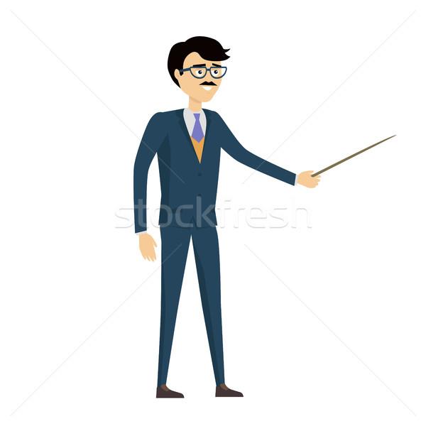 Szkoły nauczyciel wektora projektu człowiek charakter Zdjęcia stock © robuart