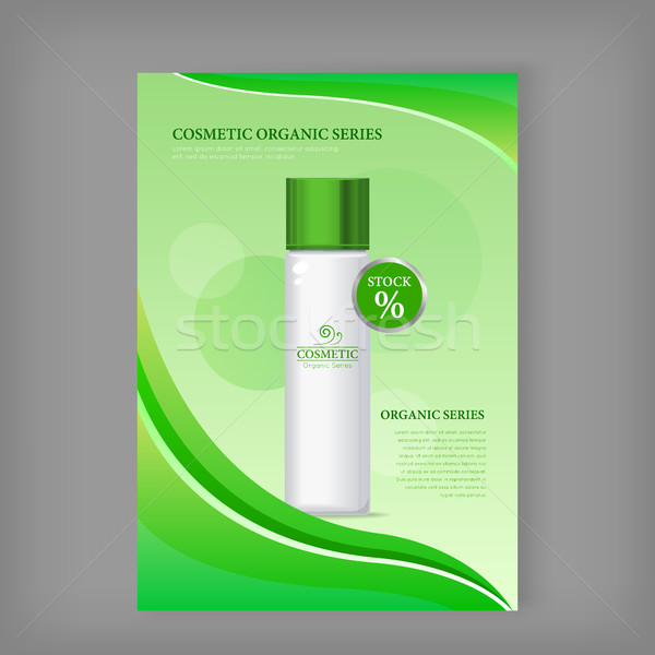 Cosmetic Organic Series Bottle Isolated. Stock Stock photo © robuart