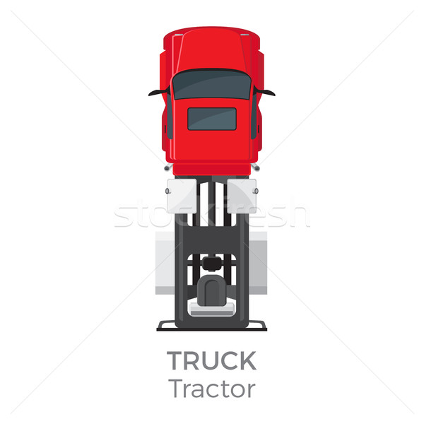 LKW Zugmaschine rot Auto Service Transport Stock foto © robuart