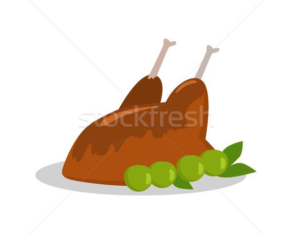 Grillezett finom tyúk egészségtelen étel étel szalag Stock fotó © robuart