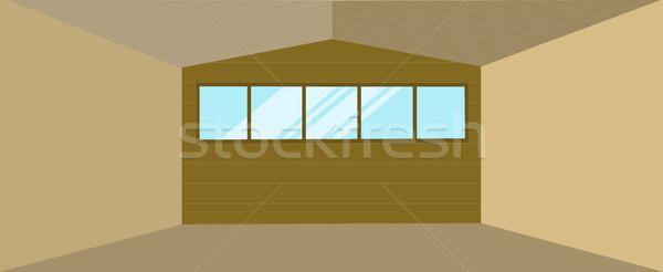 Raktár épület terv üres tároló tágas Stock fotó © robuart