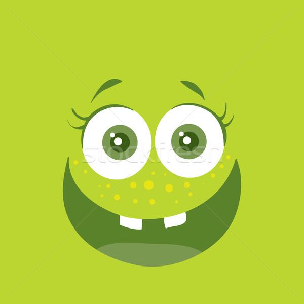 Divertente sorridere mostro sorriso batteri carattere Foto d'archivio © robuart