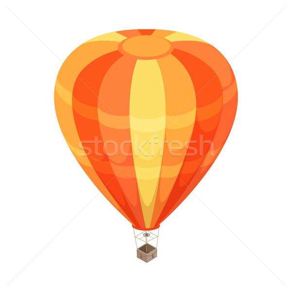 バルーン ベクトル アイコン アイソメトリック 投影 オレンジ ストックフォト © robuart