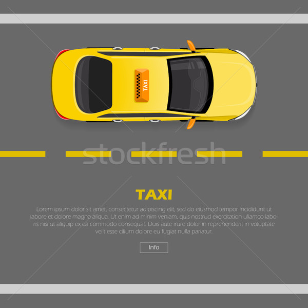 Flat Style 3d Isometric High Quality Car Taxi. Stock photo © robuart