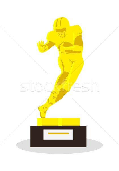 Heisman Memorial Trophy. Gold reward. Vector Stock photo © robuart