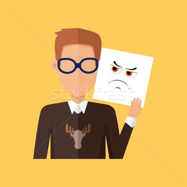 Man karakter avatar vector ontwerp stijl Stockfoto © robuart