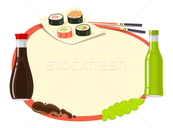 Foto d'archivio: Tradizionale · japanese · cucina · illustrazione · salsa · di · soia