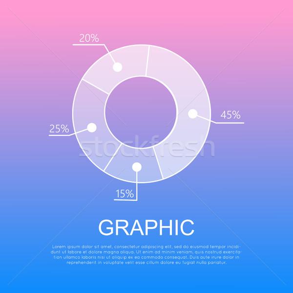 グラフィック 孤立した 図 パーセンテージ ベクトル ストックフォト © robuart
